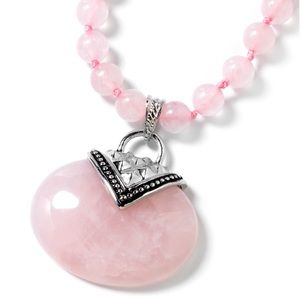 Galilea Rose Quartz  Iron/Stainless Steel Necklace